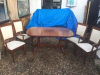 Solid Wooden Extendable Table and 4 Chairs, DELIVERY POSSIBLE.