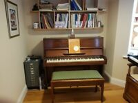 Chappell Upright Piano - solid mahogany case - quality instrument