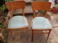 2 vintage dining/kitchen chairs