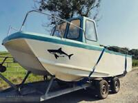 Cheetah Style twin hull boat and trailer!