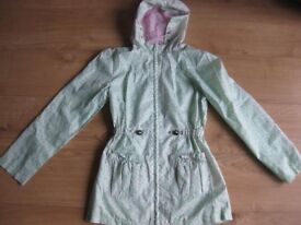 GIRLS LIGHT WEIGHT RAINCOAT age 12-13 IMMACULATE CONDITION - Ideal for this weather! CHEAP PRICE!