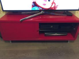 Red gloss tv cabinet