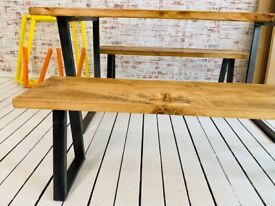 Industrial Kitchen Bench Sets - Any RAL Colour Powder Coating Dining Table Tapered Leg