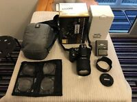 Nikon D5200 Digital SLR + NIKKOR lens 18-205 With extras Hardly used, Mint Condition, Torquay