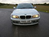 BMW e46 318Ci 2003 NEW MOT NO ADVISORIES