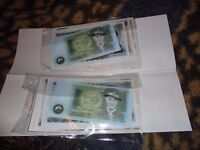 new delboy money two lots £1 £5 £10 £20 paper money collectable