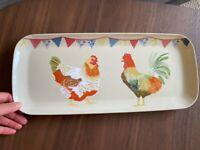 Fun Chicken and cockerel serving ware - Plastic