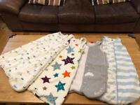 Baby gro-bags/sleeping bags 0-6 months x 4