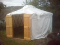 Event Yurt. 16' Heavy Duty PVC cover. 2 x double doors., used for sale  Stroud, Gloucestershire