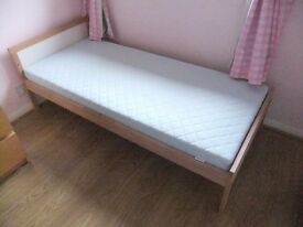 IKEA Sniglar Children's Bed with Vyssa mattress