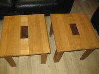 SOLID OAK TABLE'S X 2 VERY HEAVY TABLES EX+ CONDITION