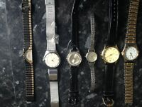15 Watches 9 ladies 7 mens all in need of batteries