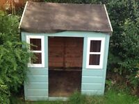Adorable little wooden playhouse- in need of a little tlc