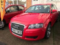 Audi A3 sportback special edition 5 door in red 2007