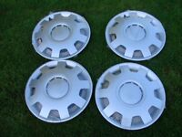 4 Hub Caps 14 Inch new Wheel Trims Covers Alfa silber for Chrysler Fiat Lada Mercedes and others