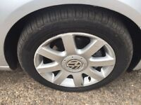 Mk5 VW Golf GT TDi set of 4 alloy wheels and tyres £150