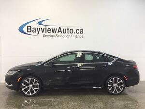 2016 Chrysler 200 C- 3.6L! REMOTE START! PANOROOF! LEATHER! NAV!