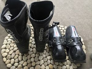 Men's Aplinestar riding boots and shin guards