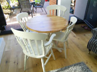 Circular Table and Chairs