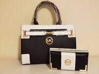 Ladies Black & White Michael Kors Bag & Purse Set
