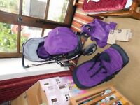 Oyster Max Purple Double Pushchair