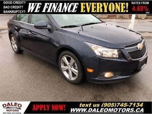 2014 Chevrolet Cruze LTZ   ONLY 45KMS!!   LEATHER   BACK-UP CAM