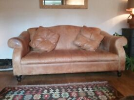 3seater nubuck leather sofa.