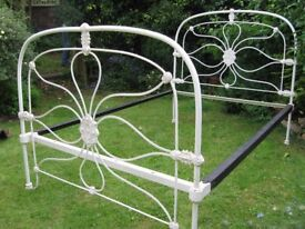 Victorian cast iron double bedstead