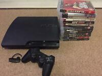 PS3 Slim & 13 Games - 125gb - MINT Condition