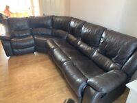 Lazy boy leather corner sofa