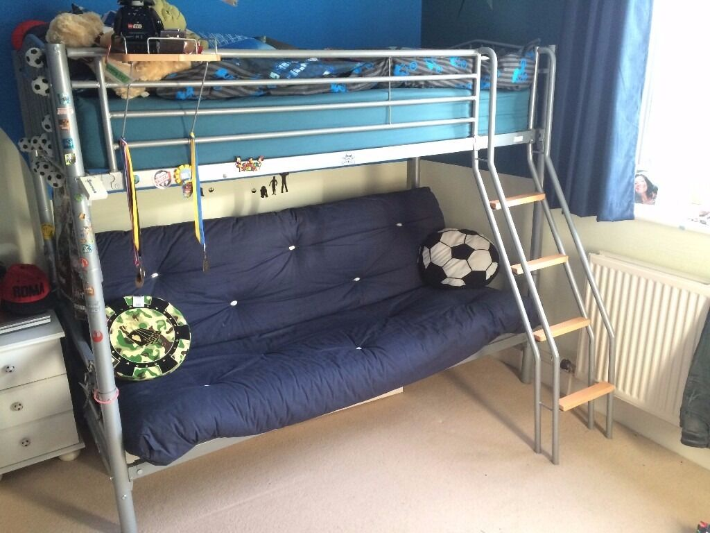 Hyder Children S Bunk Bed With Double Bed Futon Sofa In Witney