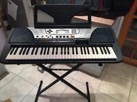 Yamaha PSR-340 Keyboard wth stand and carry bag