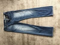 All Saints men's jeans blue £10 size 34waist 32 leg