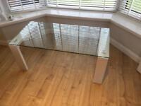 John Lewis glass coffee table