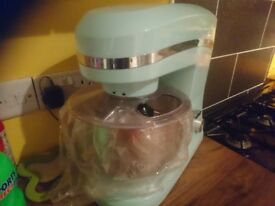 Brand New Retro Food Mixer in turquoise. Never been used. Must be seen.