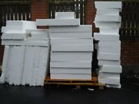 Polystyrene/Insulation Approx 1m x 1m x 150mm depths £3.50