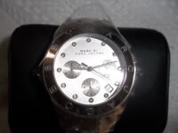 NEW LADIES MARC BY MARC JACOBS MBM3100 SILVER BLADE WATCH,RRP£229.