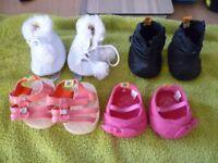 Build a Bear Footwear 4 Pairs.