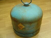 camping gaz type 904 gas bottle with carrying handle some gas left in bottle