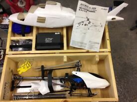 450 Helicopter never flown! FLYMENTOR, 3d helicopter stabilisation system, With Airwolf shell.