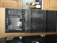 hotpoint double oven with microwave at top