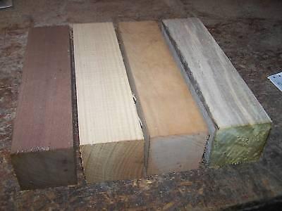 Walnut  Coffee Tree  Maple  And Sassafras Turning Blanks Wood Lumber 3 X 3 X 12