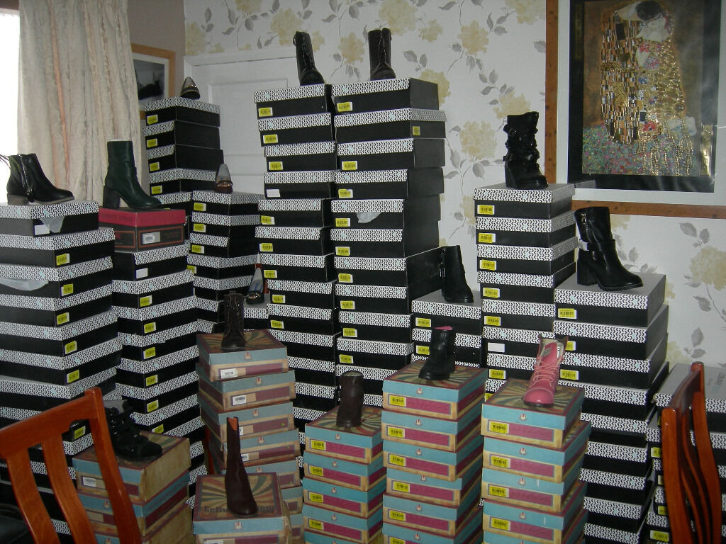womens boots and shoes varies sizes 3 8 300 pairsin Leytonstone, LondonGumtree - i up for sale a job lot of womens boots and shoes varies sizes 3 8 Just sum off the boots and shoes in the photos around 300 pairs in total. rrp £6000 Cash price £1200 All new and boxed Make LE BUNNY BLEU NEW YORK Viewing welcome. May swap for car,...