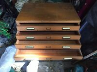 Flat file / flat files cabinet - for paper, print, poster, art storage.