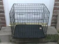 DOG CAGE SMALL WITH TRAY £18