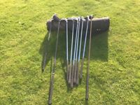 Ladies set of Dunlop graphite 65i golf clubs and bag
