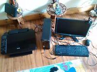 Acer AMD Pheonom 4.....64bit windows vista, computer monitor, keypad mouse, webcam printer