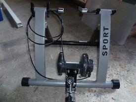 Fold up bike trainer.