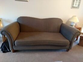 Three Seater Blue/Grey Sofa
