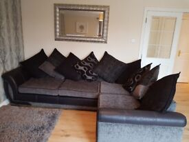 Large L shape sofa absolute perfect condition